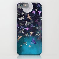 iPhone & iPod Case featuring Midnight Birds by Nikkistrange