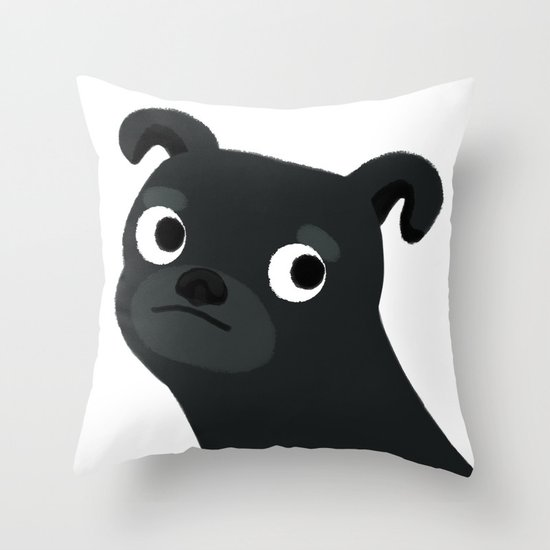 Pug - Cute Dog Series Throw Pillow