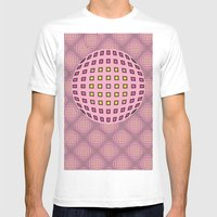 Pop pink Mens Fitted Tee White SMALL