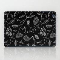 floral (black) iPad Case