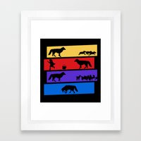 Why Can't We Be Friends Framed Art Print