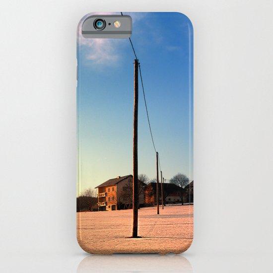 Powerline, sundown and winter wonderland   landscape photography iPhone & iPod Case