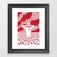 Where Is My Mind. Framed Art Print