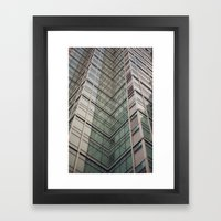 City Chevron Framed Art Print