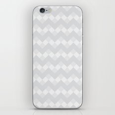 Chevron Neue Gray and White Pattern iPhone & iPod Skin