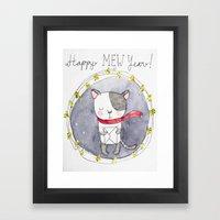 Happy Mew Year !  Framed Art Print