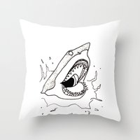 Shark of the Week Throw Pillow