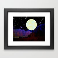 Valley Of The Moon Framed Art Print
