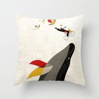 For a breath, the butterflies Throw Pillow