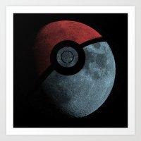 Poke Moon Art Print