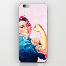 Fight Like A Girl Rosie … iPhone & iPod Skin