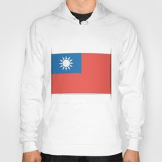Flag of Taiwan.  The slit in the paper with shadows. Hoody