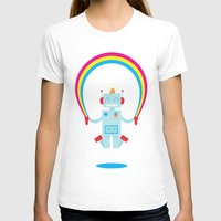 Skipping a Rainbow Womens Fitted Tee White SMALL