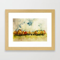 Horses among the trees Framed Art Print