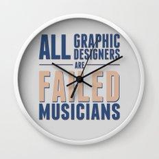 Failed musicians Wall Clock