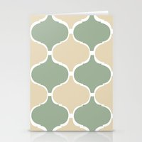 MARRAKECH Sand Green Stationery Cards