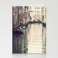 Boats in Venice Stationery Cards
