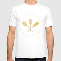 Aztec Arrows Mens Fitted Tee White SMALL