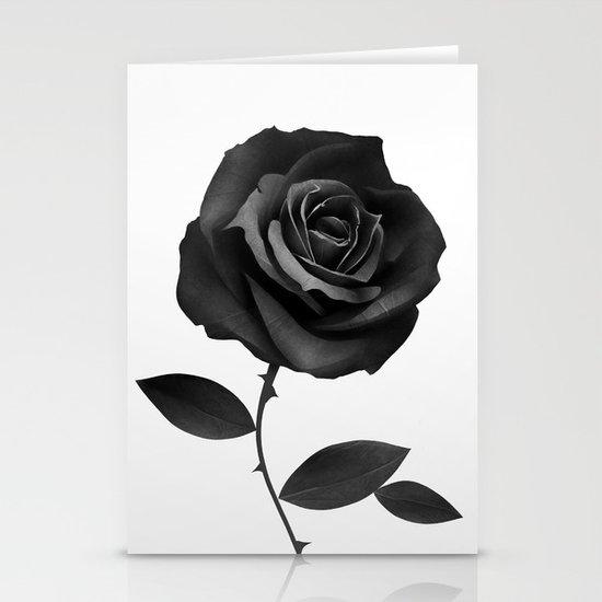 Fabric Rose Stationery Card