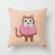 Two Kitties Throw Pillow