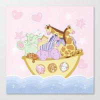 Noah's Ark (Pink) Canvas Print