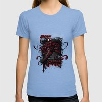CARNAGE RULES  Womens Fitted Tee Tri-Blue SMALL