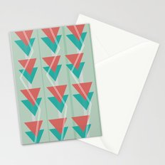 Triangles and lines Stationery Cards