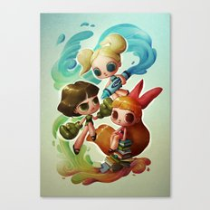 Powerpuff Girls (re-imagined) Canvas Print