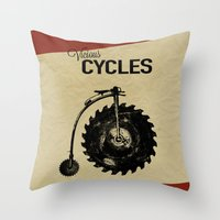 Vicious Cycles Throw Pillow