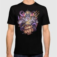 SEA WITCH Mens Fitted Tee Black SMALL
