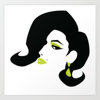 Profile - Green Art Print