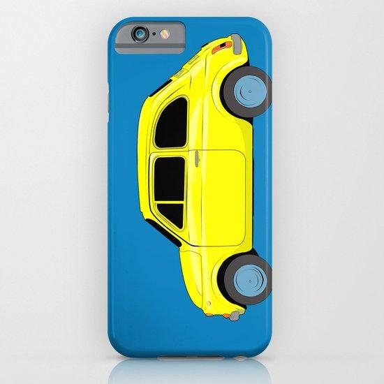 A tiny Fiat (blue) iPhone & iPod Case