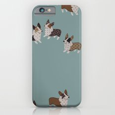 teal corgis iPhone 6s Slim Case