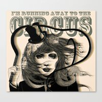 I'm Running Away To The … Canvas Print