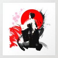 Japanese Geisha - Sakura… Art Print