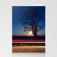 Moonlit Tree Stationery Cards