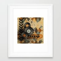 Retro Vinyl. Framed Art Print