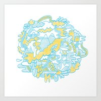 Spaghetti Mountain Art Print