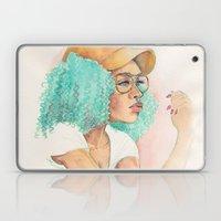 Minty Curls Don't Care Laptop & iPad Skin