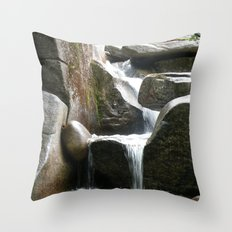 Rocky water fall Throw Pillow