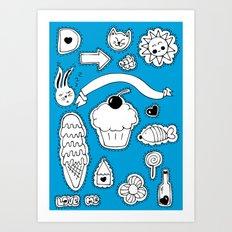 Sticker World Art Print