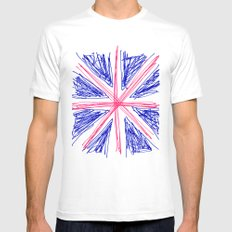 UK SMALL White Mens Fitted Tee