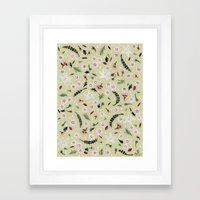 Little Flower pattern Framed Art Print