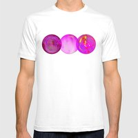 Simply Pink Mens Fitted Tee White SMALL