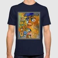 It Will Get Done Mens Fitted Tee Navy SMALL