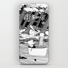 Traveling through the forest in the cup iPhone & iPod Skin