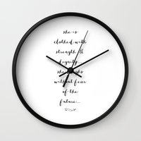SHE IS - B & W Wall Clock