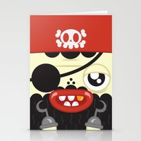 Pirate In Love Stationery Cards