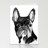 french Stationery Cards featuring French Bulldog by James Peart