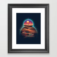 Droid-land Framed Art Print